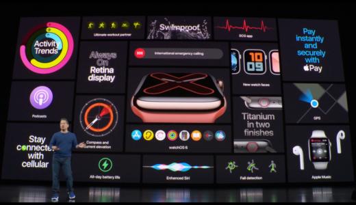 新型Apple Watch series 5発表! 午前中で既に1ヶ月待ちモデルも!大人気な2019モデルの違いをチェックします。