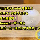 HomePod mini を購入!コンパクトなボディから驚きの高音質!iPhoneユーザーならAIスピーカーはこれで決まり!?